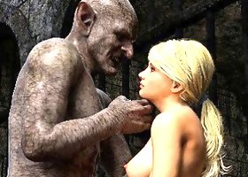 3D Captive Girls Gangbanged by Evil Orcs!
