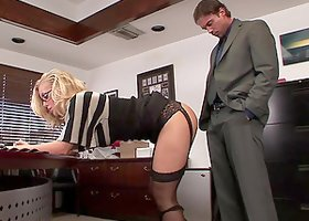 Hot Blonde Gets Nailed In The Office