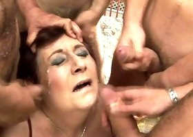 two mature sluts getting fucked by a lot of guys