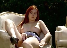 Angell Summers in masturbation sex video in outdoor