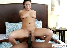 Asian seductress London Keyes is fucked by hot tempered black neighbor