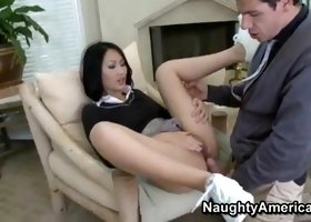 Babe Evelyn Lin in sex action