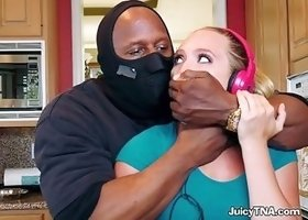 Sexy Teen AJ Applegate Devours Huge Cock Of Burglar