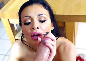 Aletta Ocean hires a guy who drives his cock into her