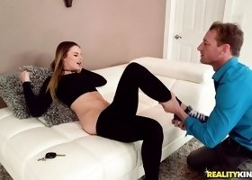 Seductive Jillian Janson having fun on Ryan Mclane's stiff dick