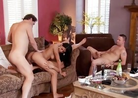 Wild foursome with Vicki Chase and Lyla Storm
