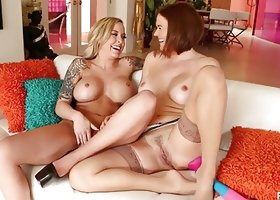 Payton West and Krissy Lynn have some fun lesbian time