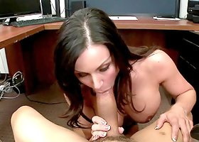 An Office Blow by a horny brunette Kendra Lust