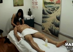 Marvelous trimmed asian Evelyn Lin is giving head