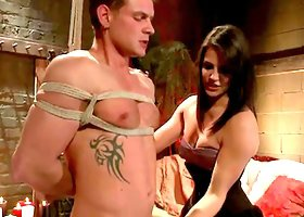 Bondage Pegging and Face Sitting in Femdom Vid with Bobbi Starr