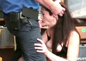 Long haired pretty brunette Jennifer Jacobs is bent over and fucked hard