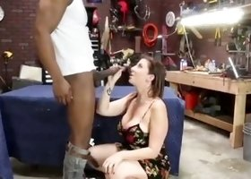 Sugar busty Sara Jay having an interracial experience