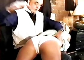 He gives those big asses a real caning