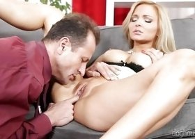 Blonde Sucks Cock Of Four Different Men @ 4 On 1 Gang Bangs #02