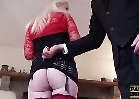 English sub slut gets slammed by perverted guy BDSM porn
