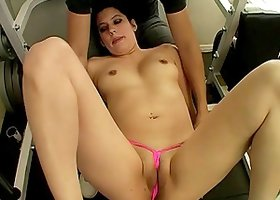 Divine Brunette With Natural Tits Getting Drilled In The Gym