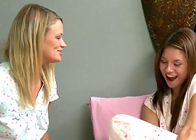 Lesbian pajama sleepover with Shyla Jennings and Heather Starlet