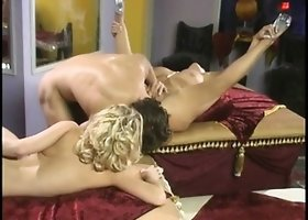 Insatiable Katie Morgan and Rebecca Bardoux get into a blazing orgy