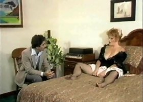 Ginger Lynn is a hot maid in need of her boss' erected boner