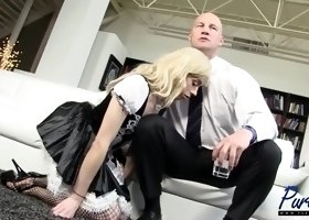 sissy maid used by white master
