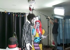 Chick with zombie makeup Joanna Angel in hot bts video